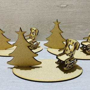 Tree and rocking chair plaque